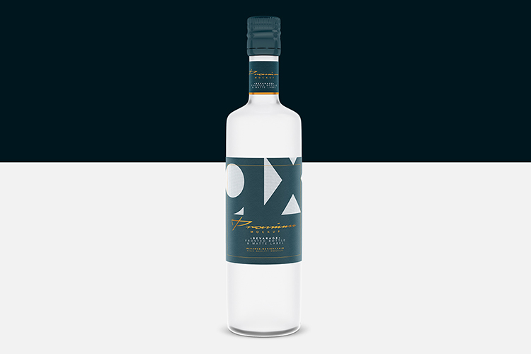 Beverage Mockup - Glass - Frosted Bottle - Matte Label - example image 2