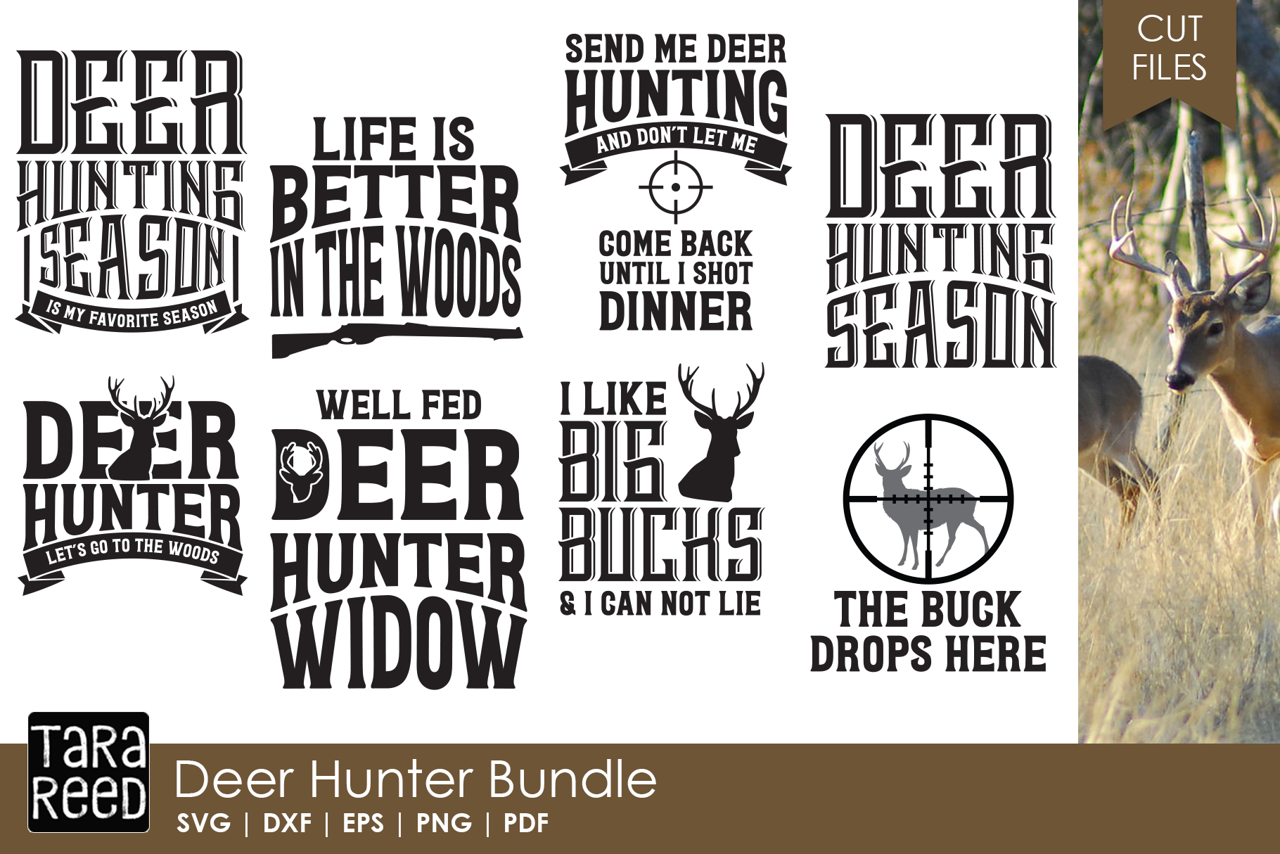 Deer Hunter - Hunting SVG and Cut Files for Crafters example image 1