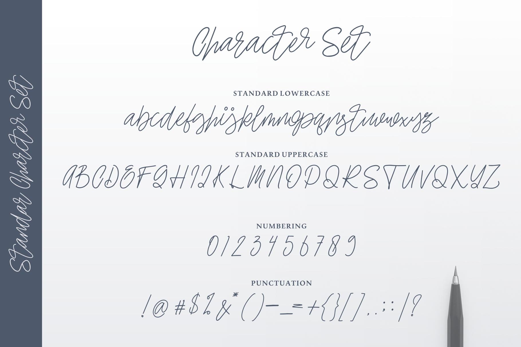 Ellaine Monoline Signature Font example image 4