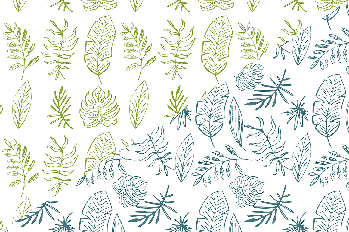 Tropical leaves set example image 8