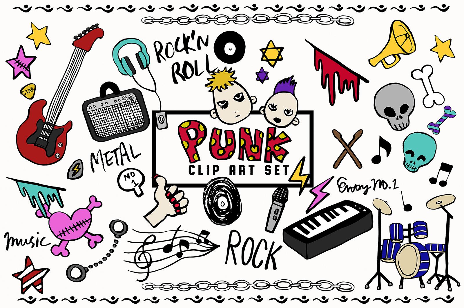 Doodled Illustration 02 Punk Rock example image 1