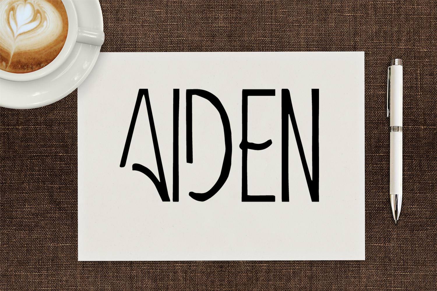 Aiden Art-Deco Font example image 1