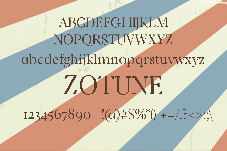 Zotune Font example image 2