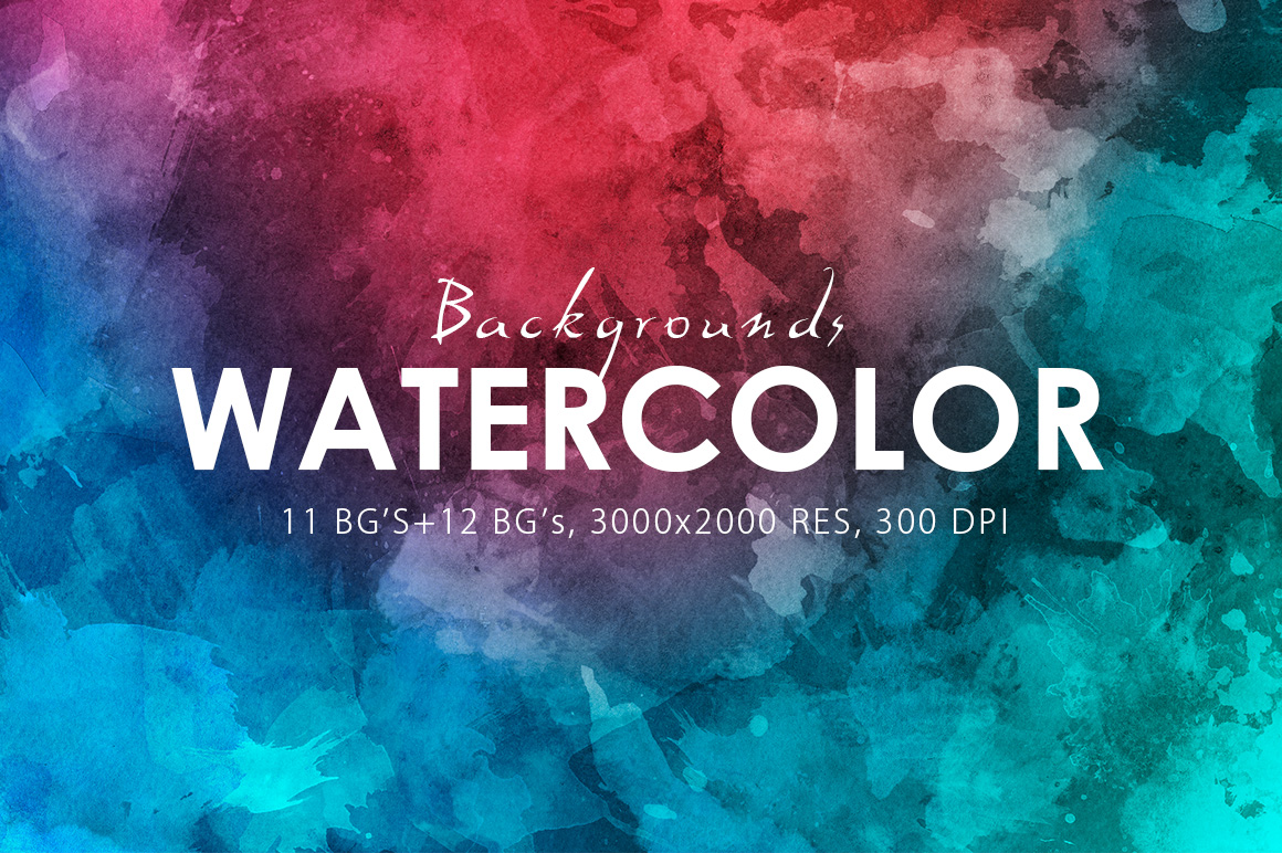 Watercolor Backgrounds & Bonus example image 1