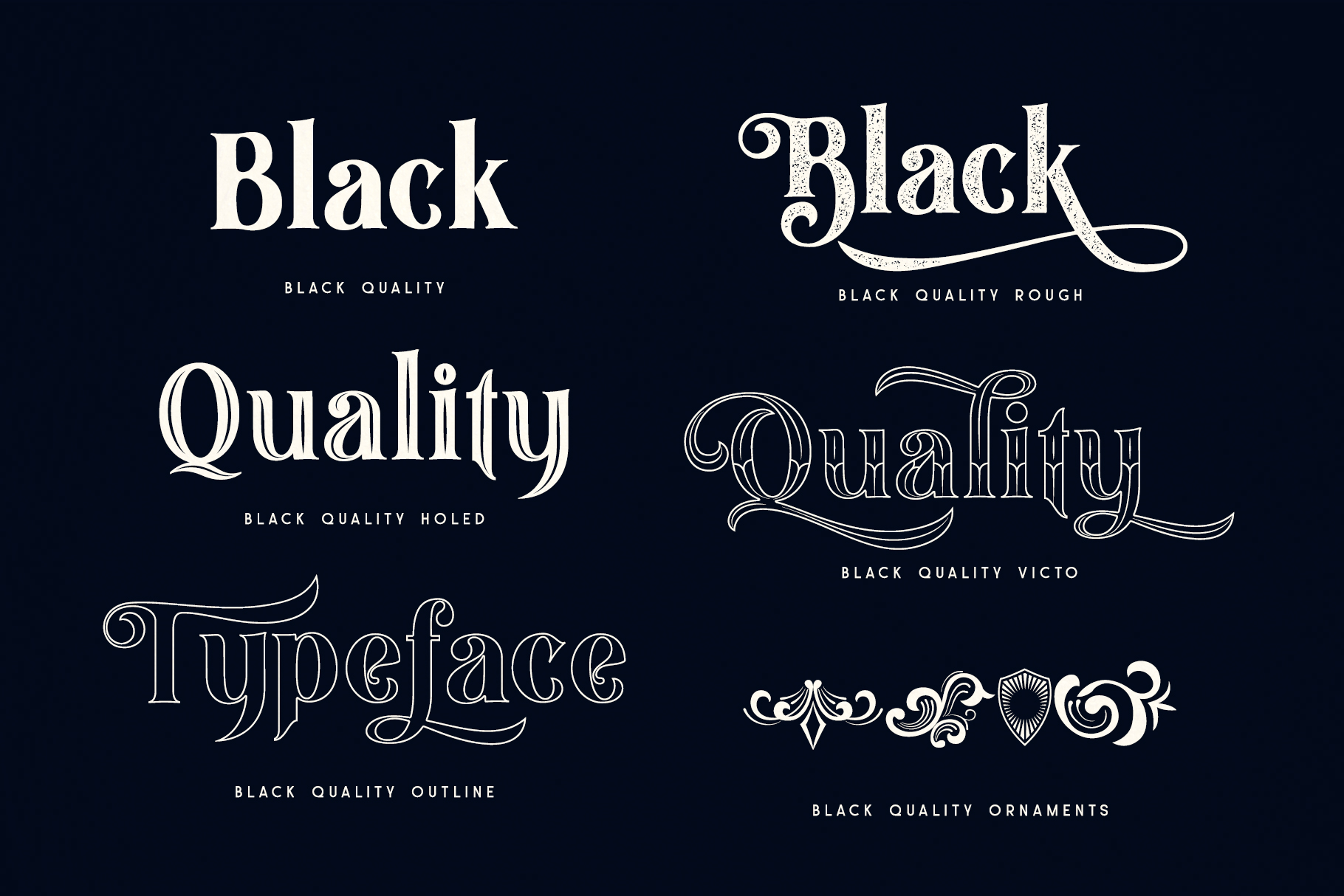 Black Quality Font example image 8