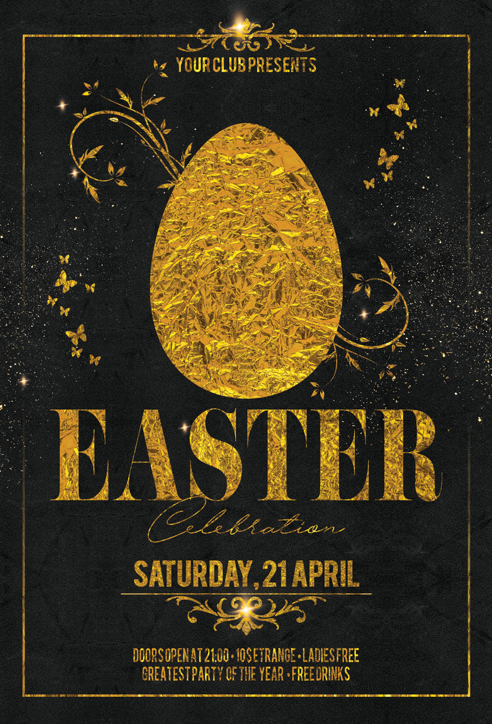 Happy Easter Party Flyer example image 3