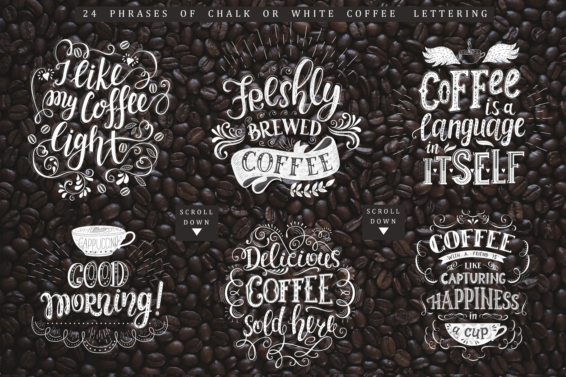 Coffee. Handlettering Quotes. example image 14