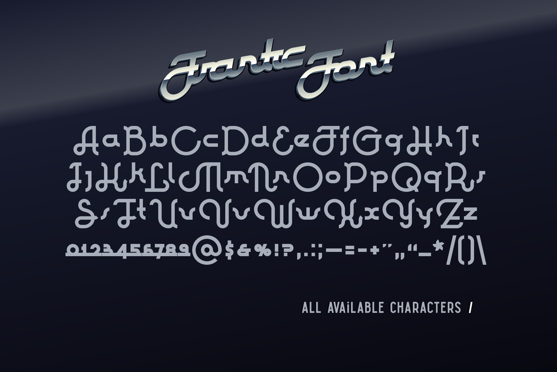 Frantic font & style example image 5