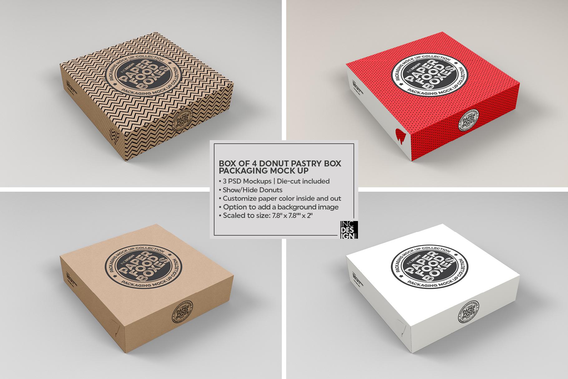 VOL.11 Food Box Packaging MockUps example image 20