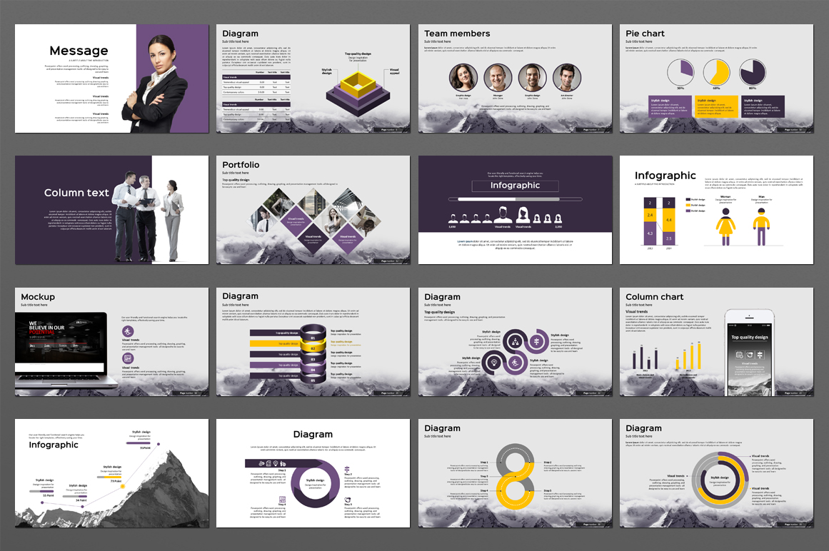 Mountain Powerpoint Template example image 4
