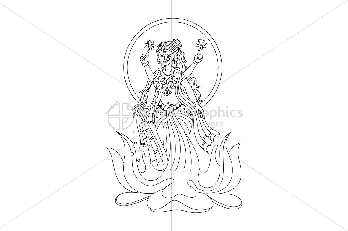 Goddess Laxmi  - Illustration example image 1