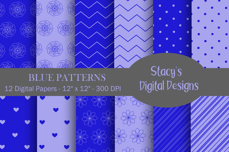 Digital Paper Bundle - 72 Digital Papers, patterns example image 5