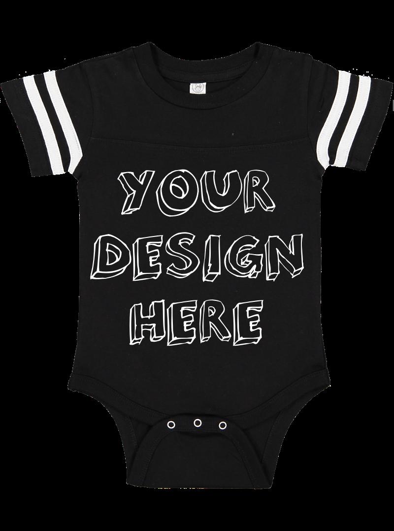 Infant Football Bodysuit Mockups - 12 |PNG|Front/Back - V1 example image 2