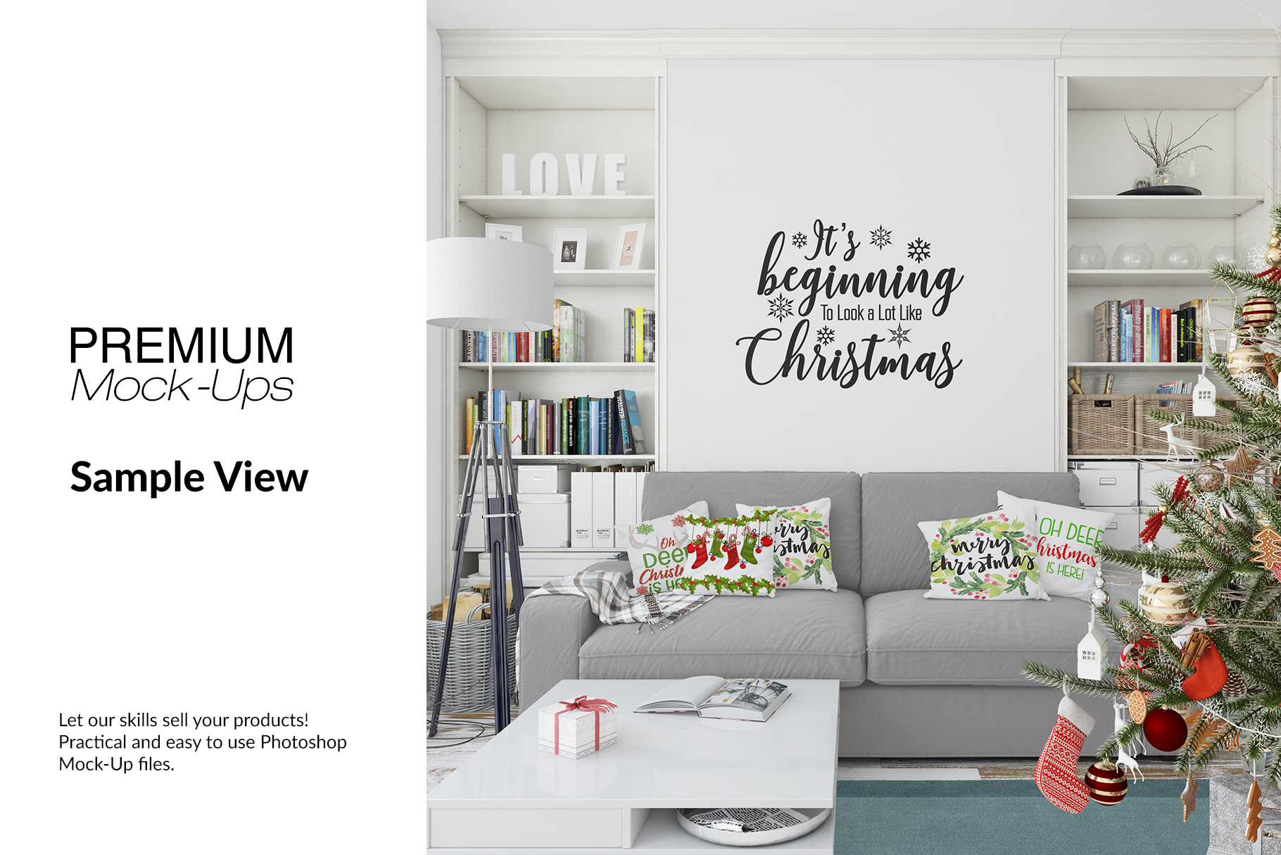 Christmas Living Room Set - Throw Pillows Frames & Wall example image 10