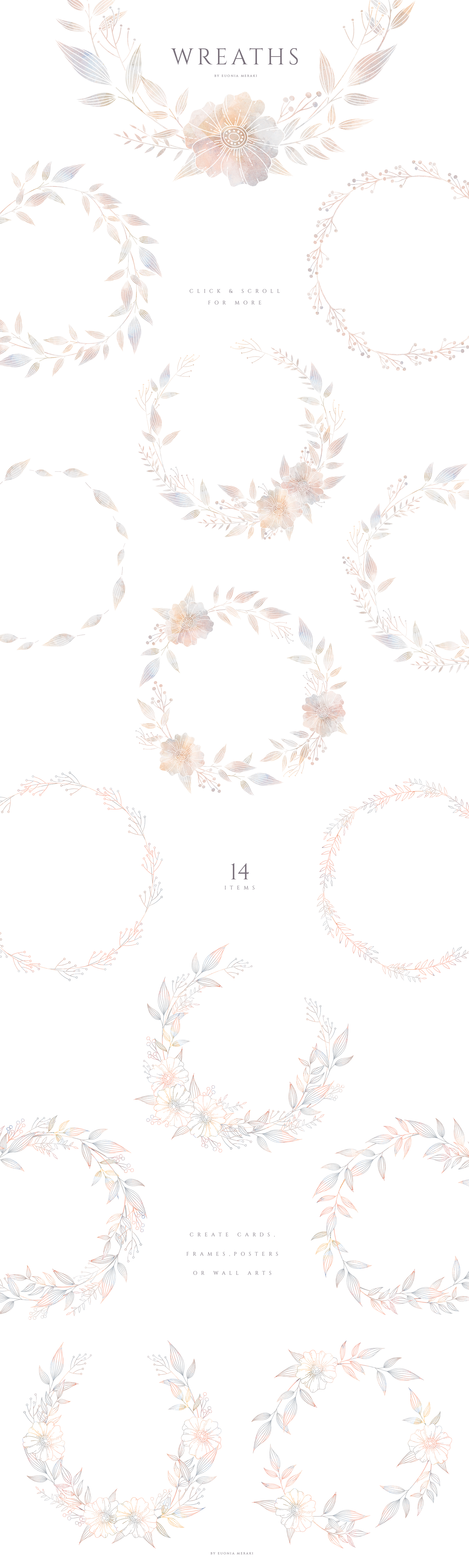 MISTY Dusty Floral Graphics and Monograms example image 6