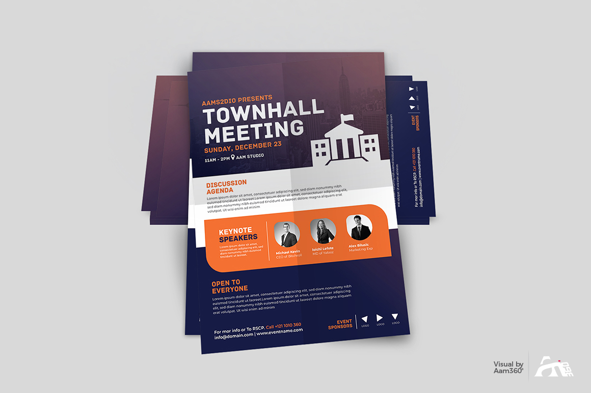 Townhall Event Flyer Template example image 4