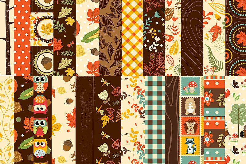 Autumn Clipart Bundle - 138 cliparts Eps and PNG example image 5