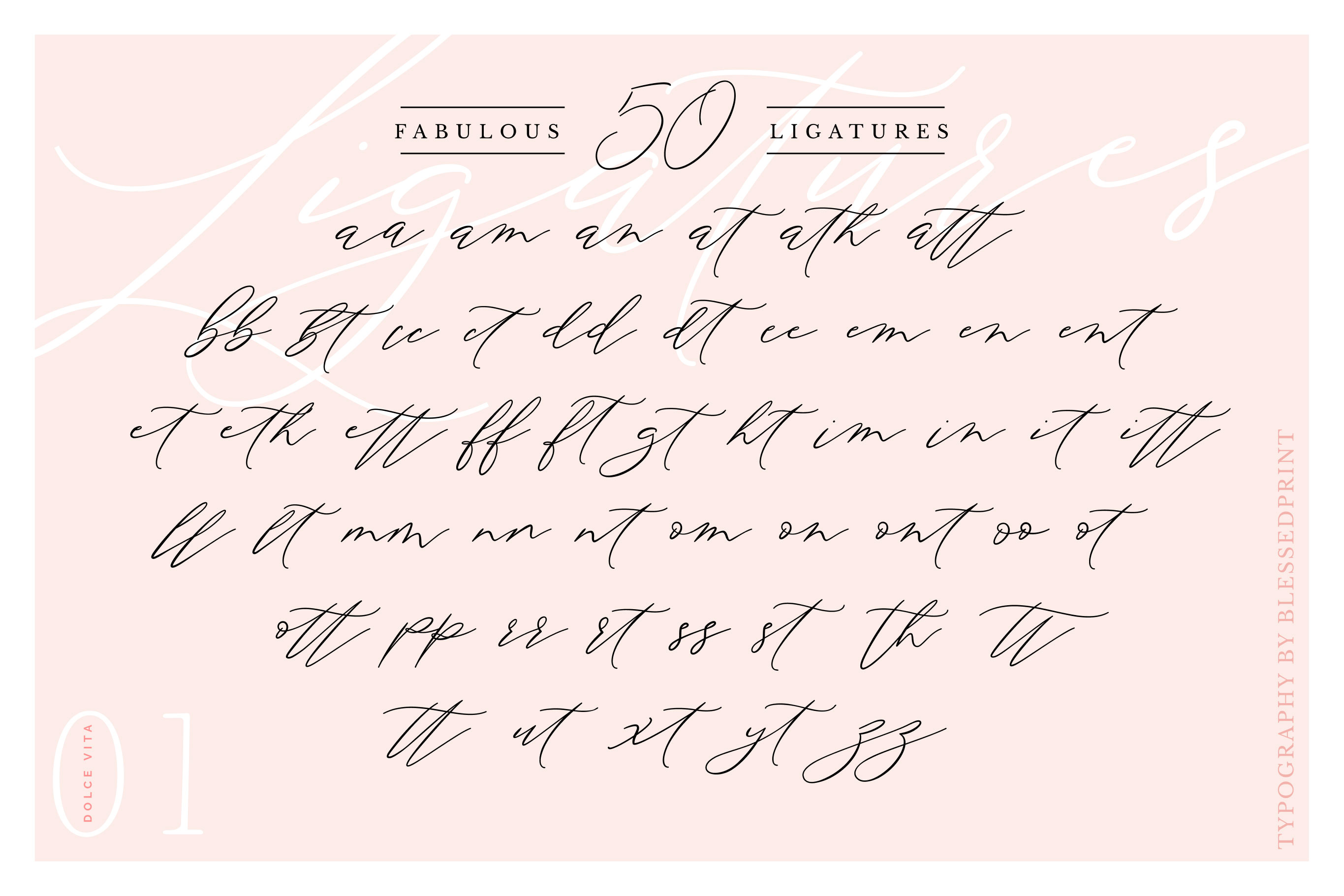 DolceVita - luxury font family with 50 ligatures example image 4
