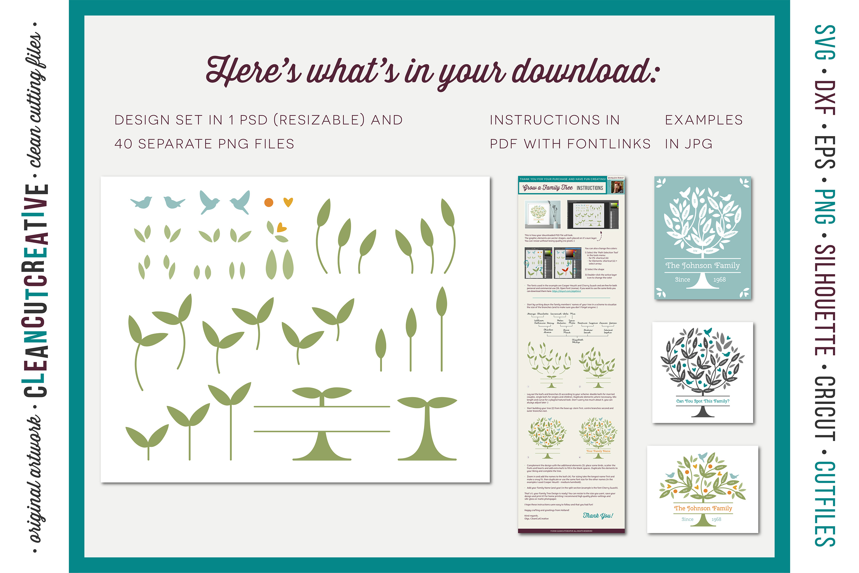 Grow a FAMILY TREE - Photoshop Edition - clipart design set example image 4