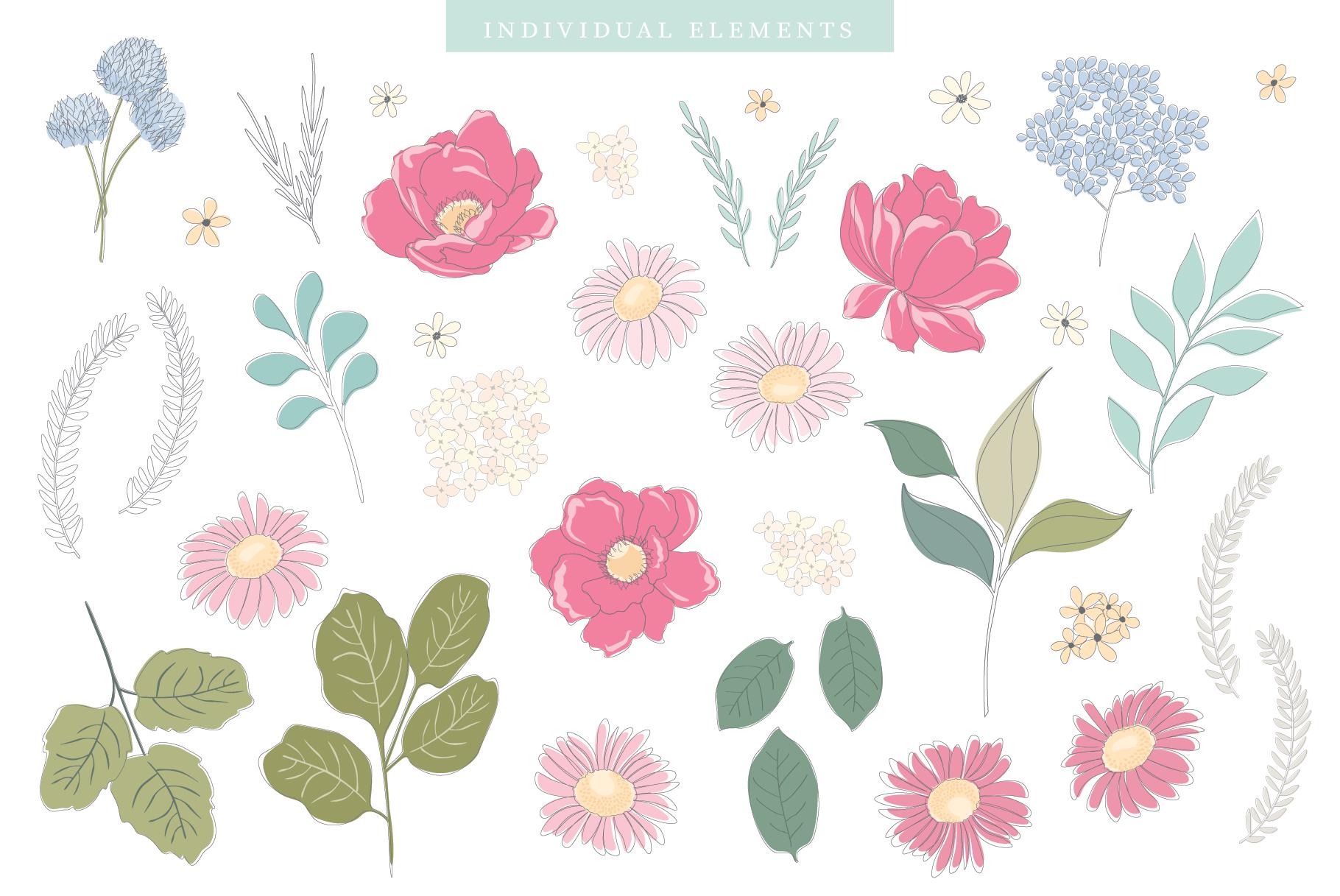 Floral Pattern Design Set example image 16