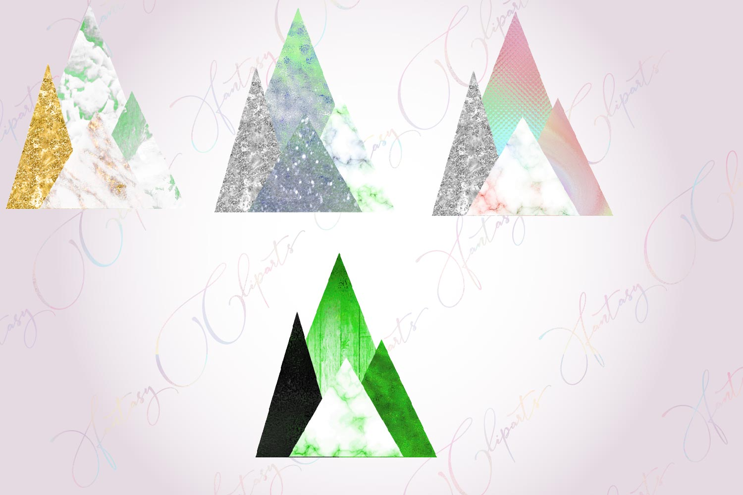 Modern Mountains Clipart example image 4