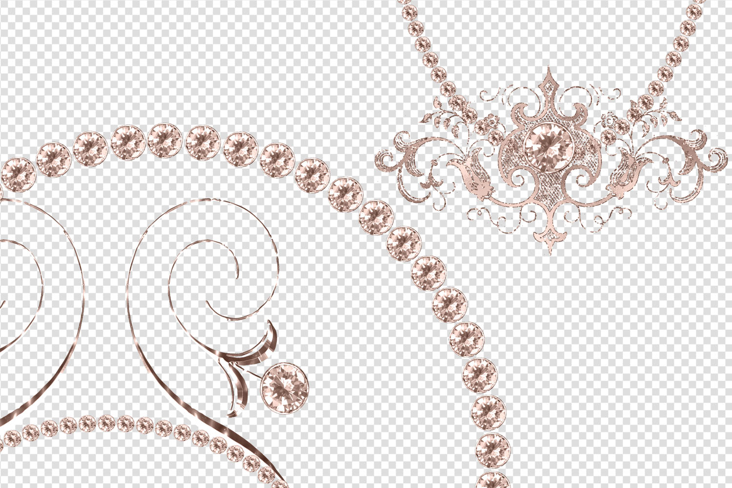 Rose Gold Diamond Frames Clipart example image 4