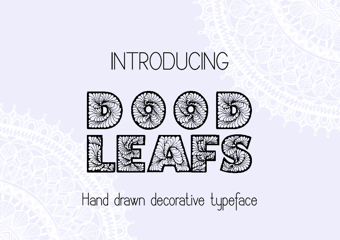Doodleaf hand drawn decorative font example image 4
