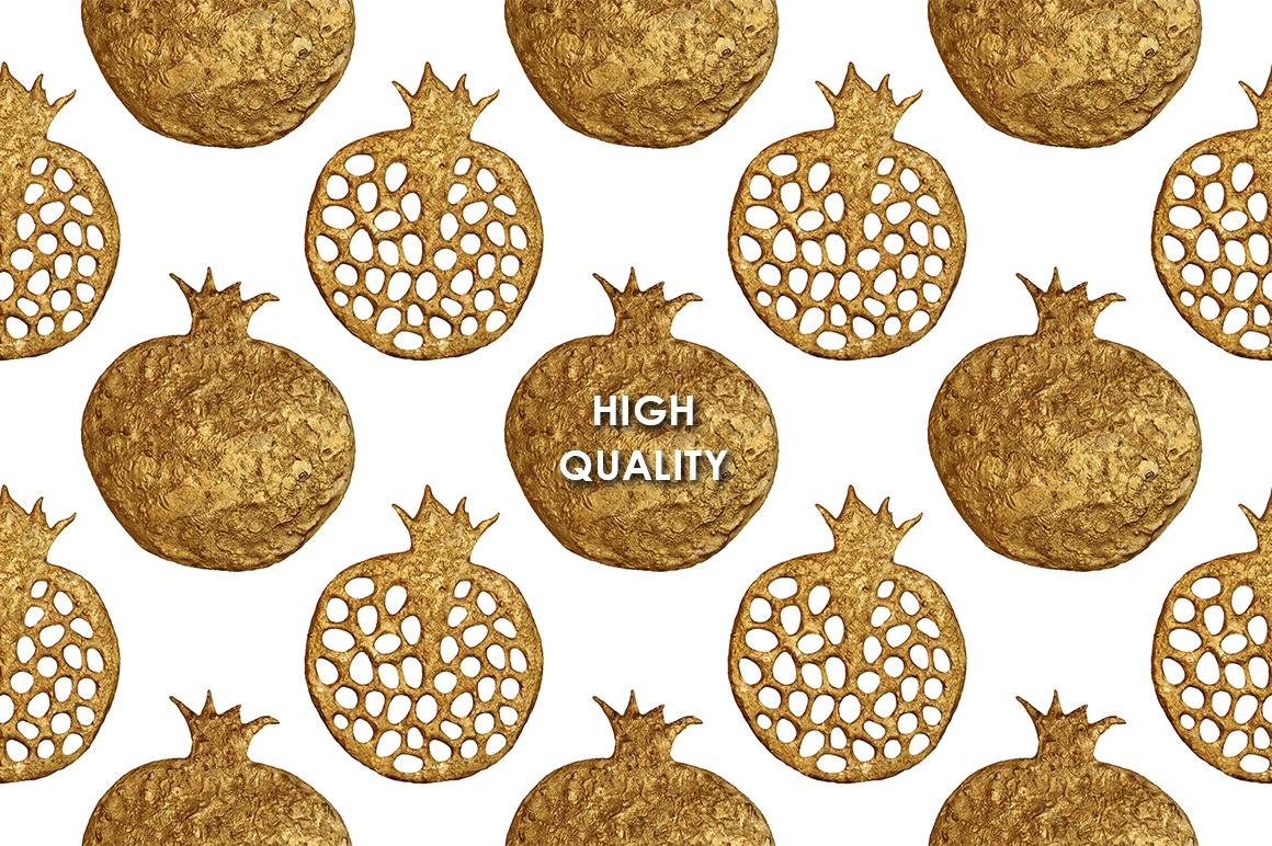 GOLD POMEGRANATE set example image 5