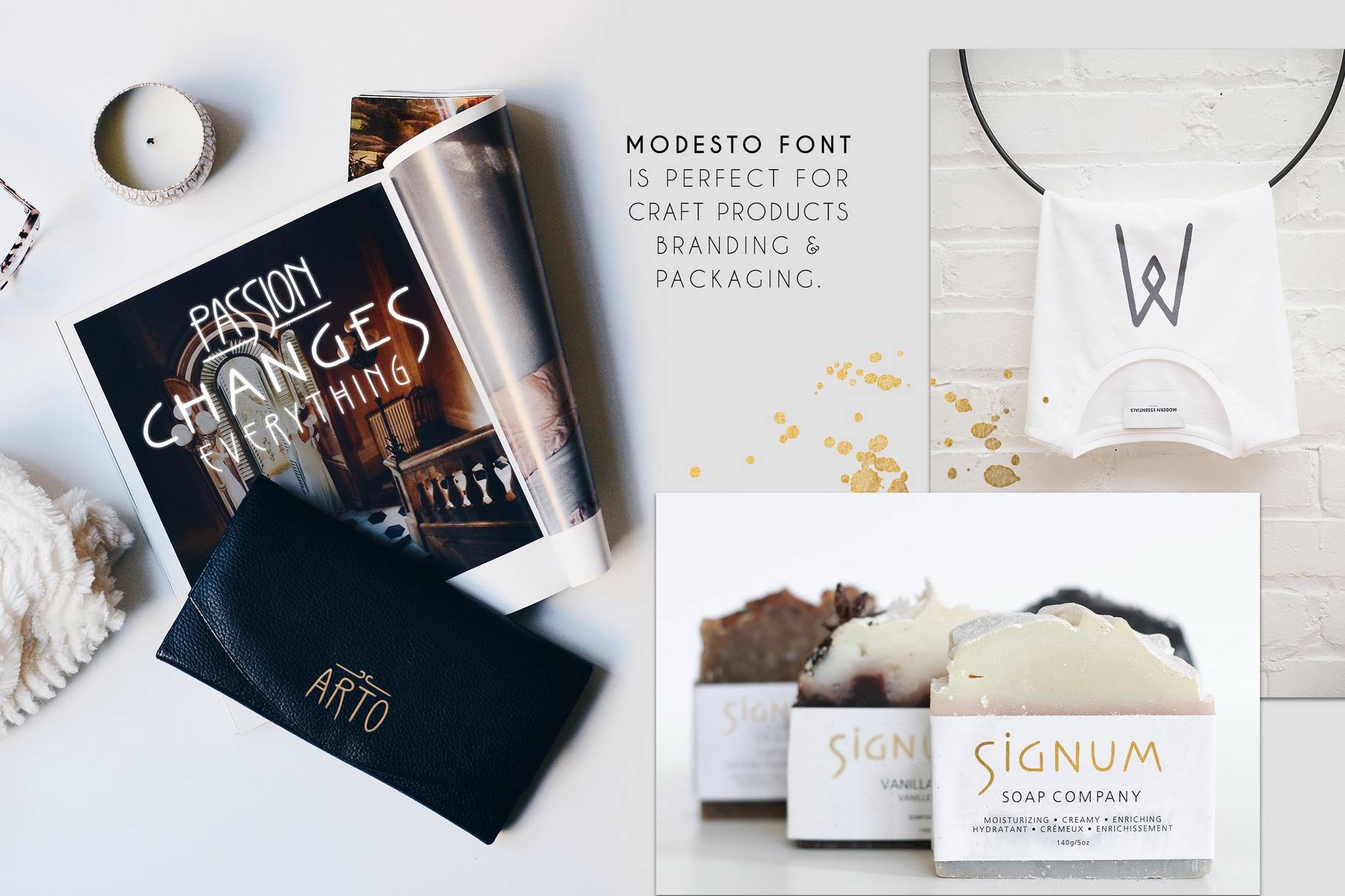 Thin Line Font Bundle 6 in 1 example image 17