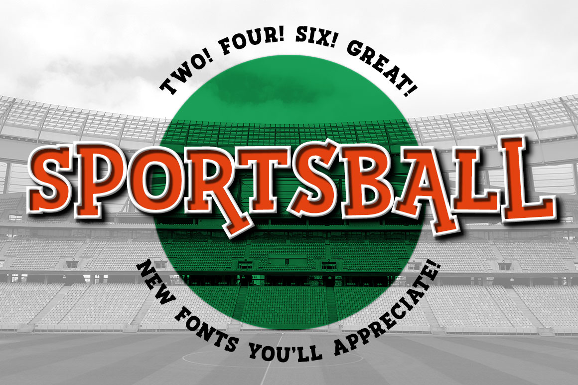 Sportsball: fun font with alternates! example image 1