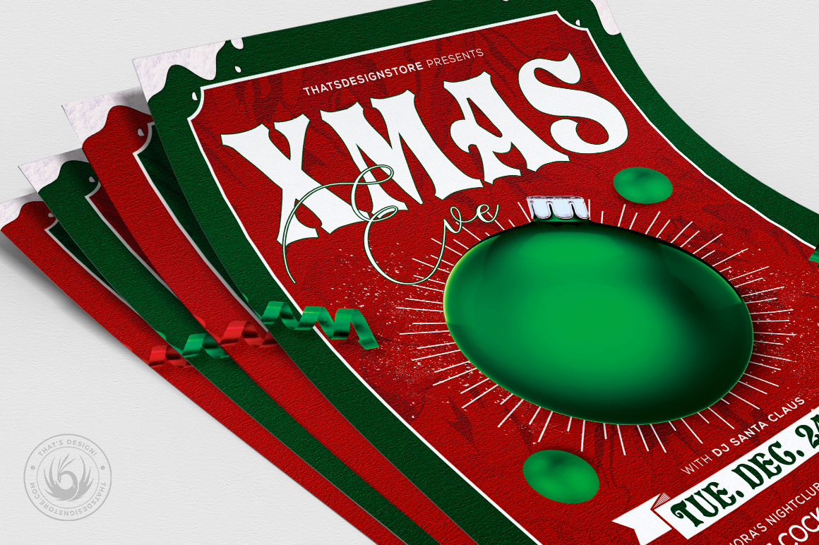 Christmas Eve Flyer Template V9 example image 5