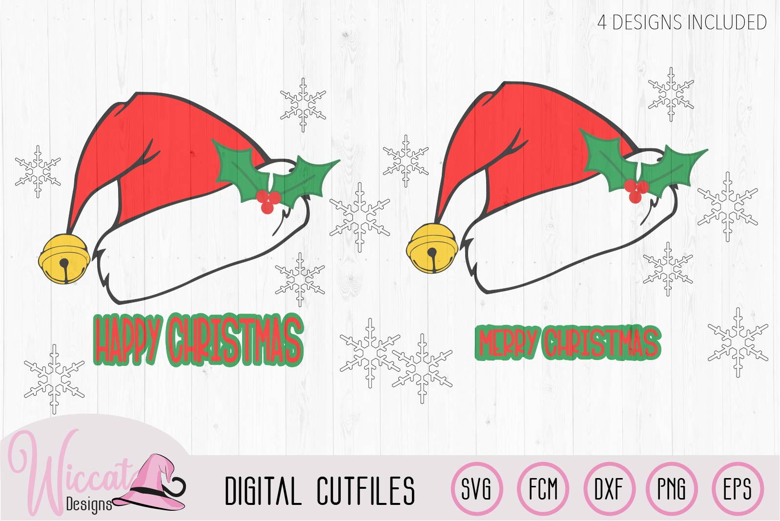 Christmas hat svg, Happy and Merry Christmas example image 4