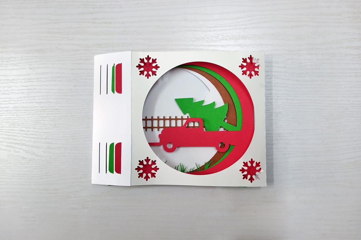 DIY Christmas Card - 3d papercraft example image 7