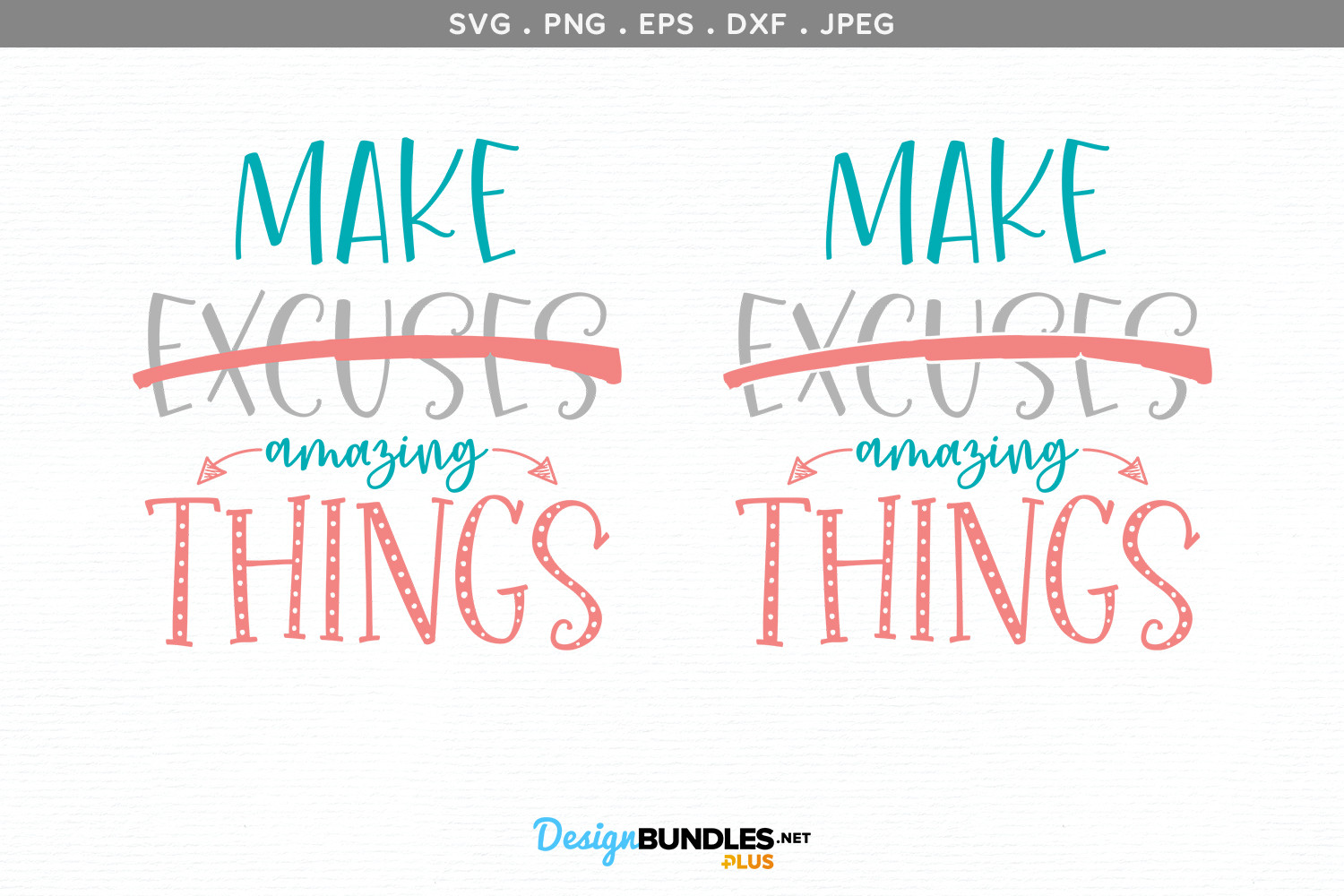 Make Amazing Things - svg cut file & printables example image 2