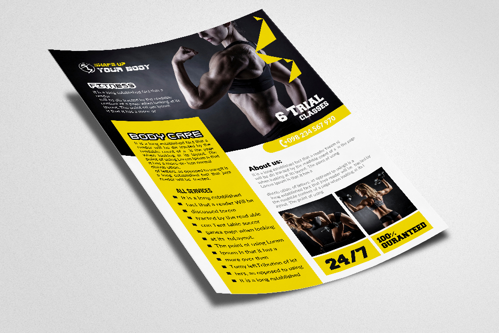 Body Fitness Flyer/Poster example image 2