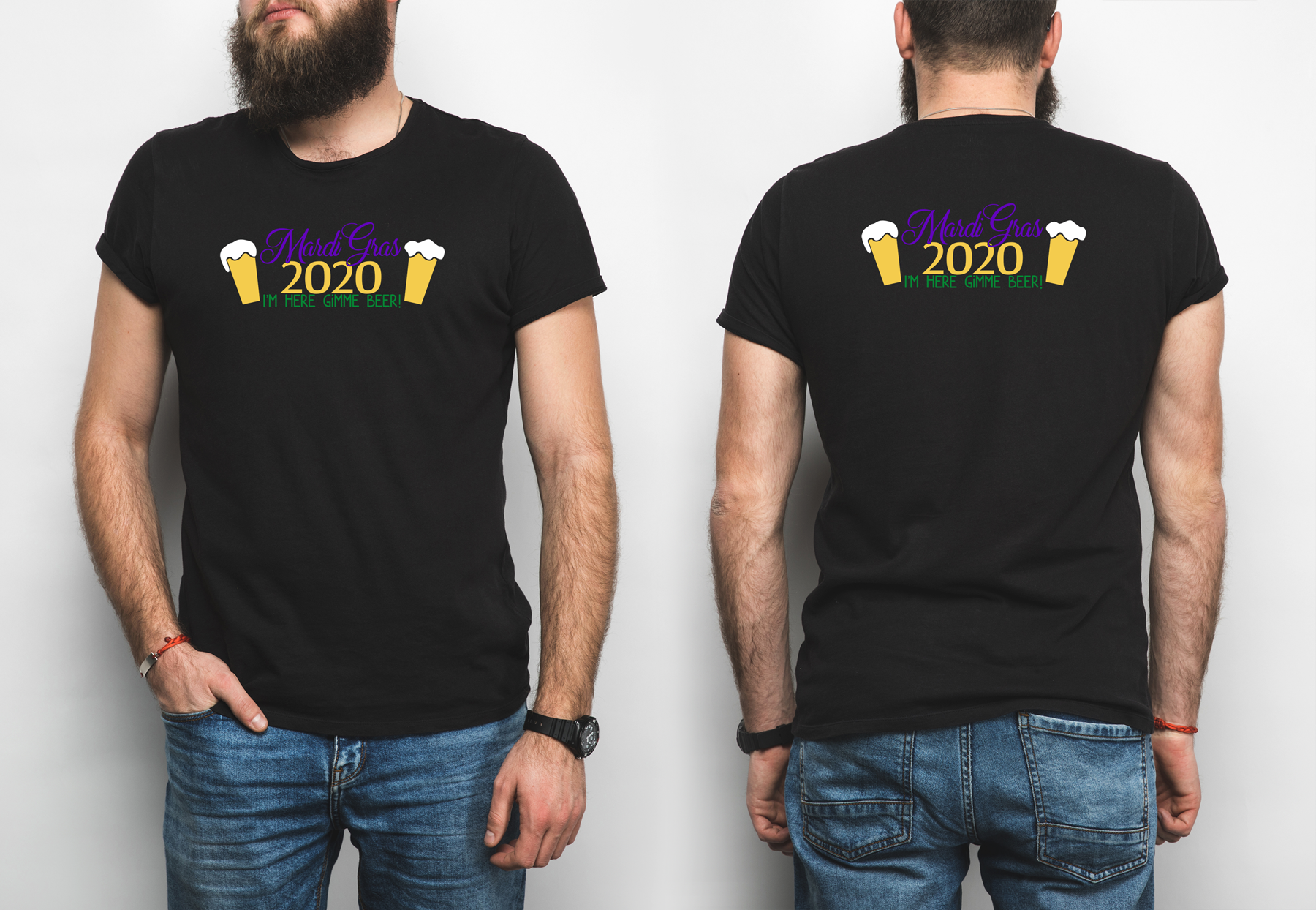 Mardi Gras 2020, I'm Here Gimme a Beer! A Mardi Gras SVG example image 4