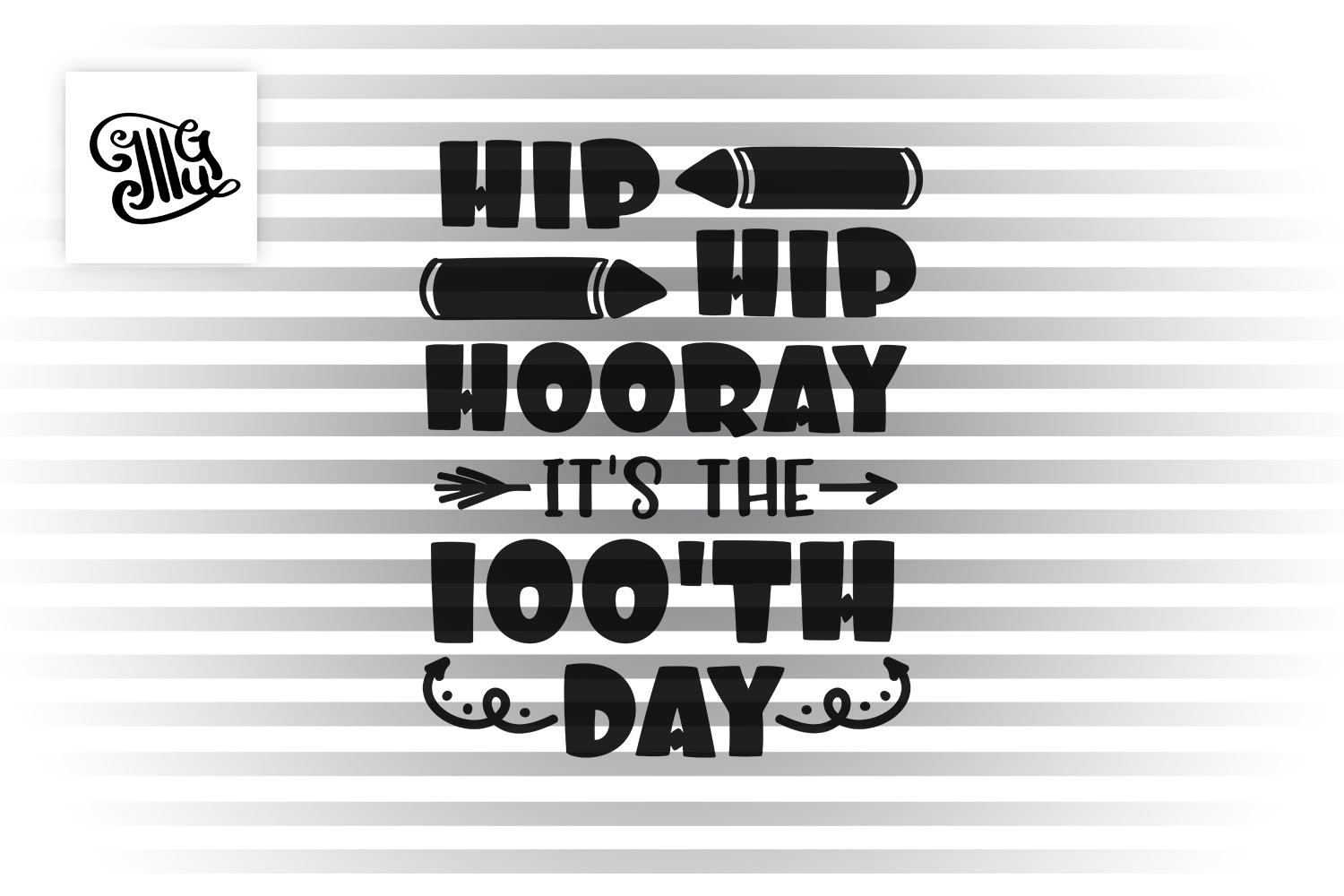 100 days of school for kids svg example image 2