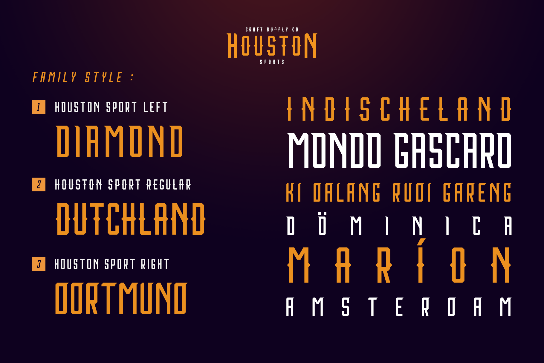 Houston Sports Font Family example image 3