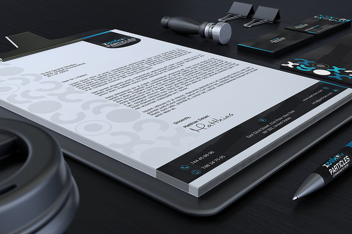 Black And Blue Corporate Identity example image 3