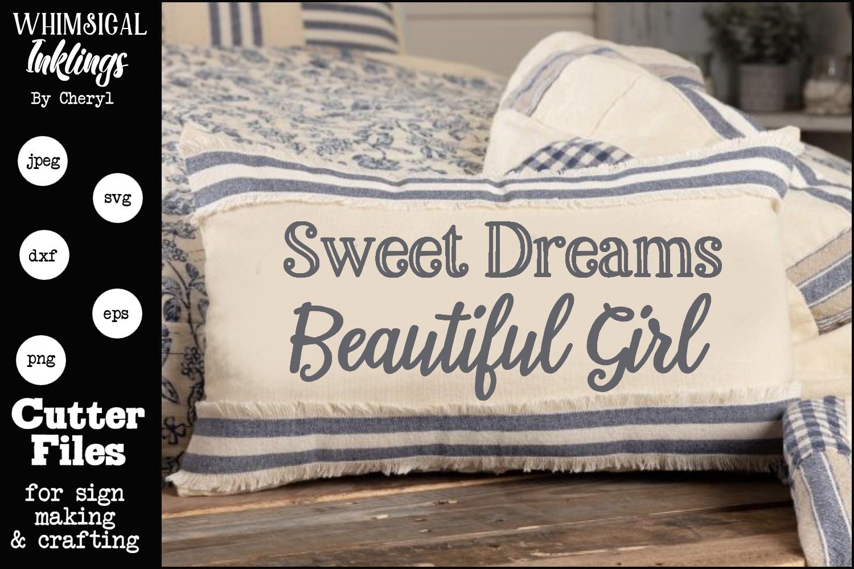 Sweet Dreams Beautiful Girl SVG example image 1