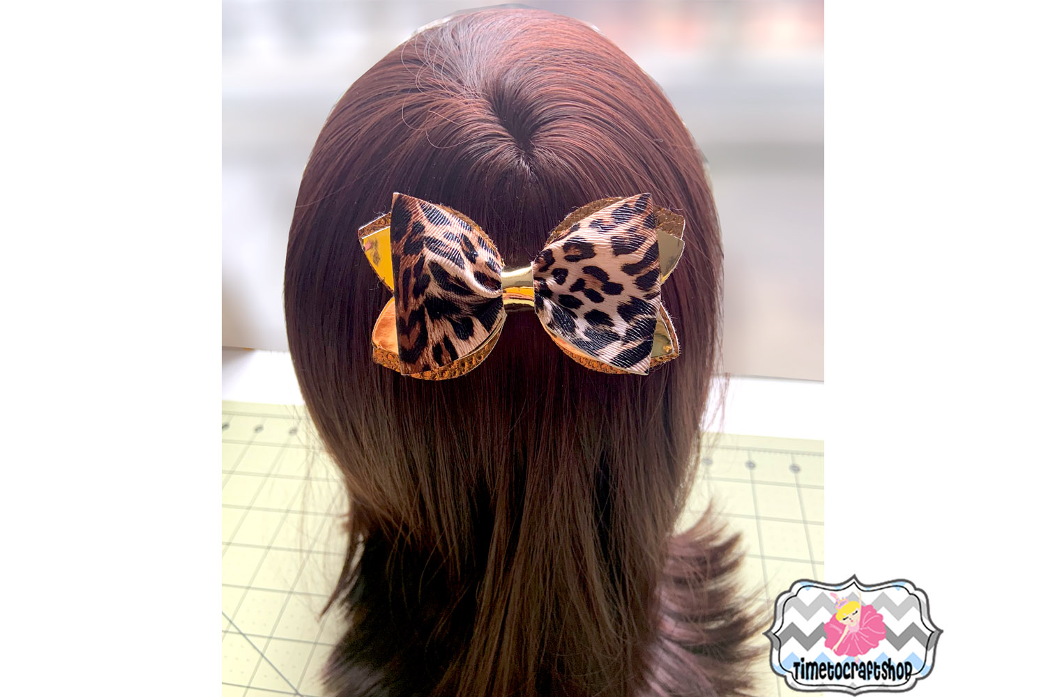 Stacked Classic Pinch Hair Bow Template Felt Hair Bow example image 2