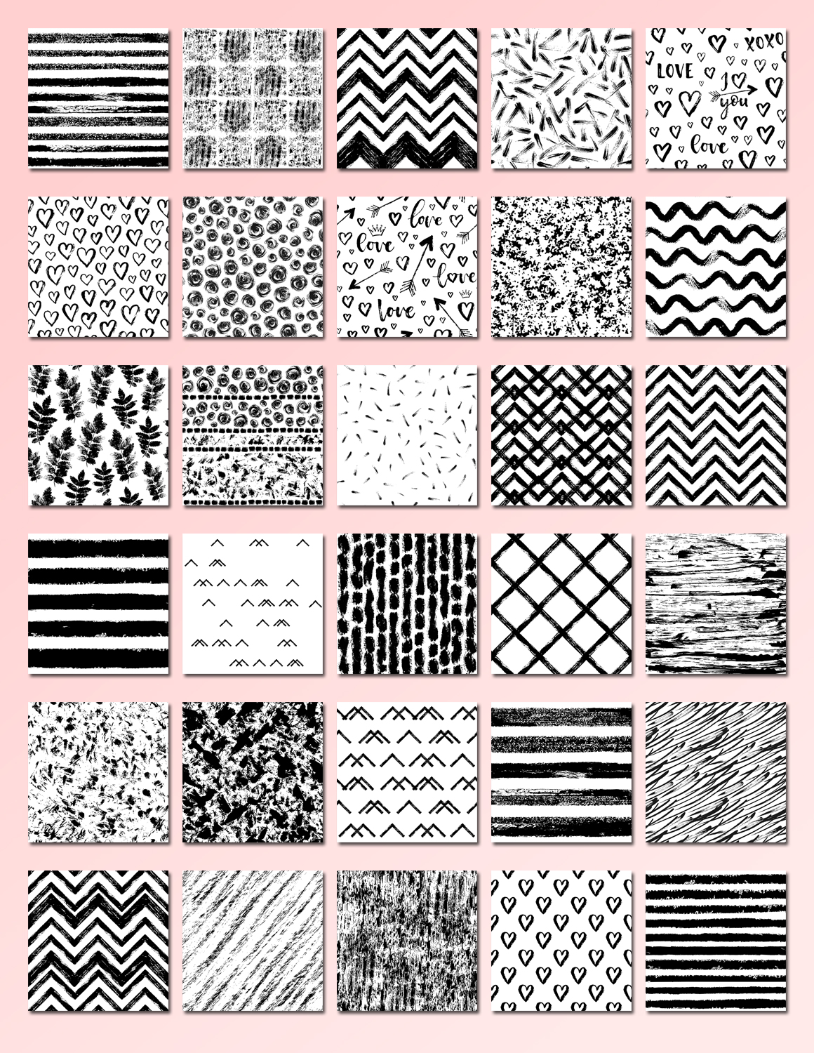 32 Hand Drawn Seamless Patterns example image 2