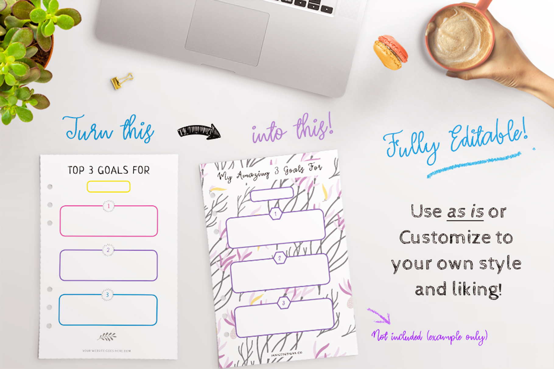 Goal Setting Printables InDesign Template example image 4
