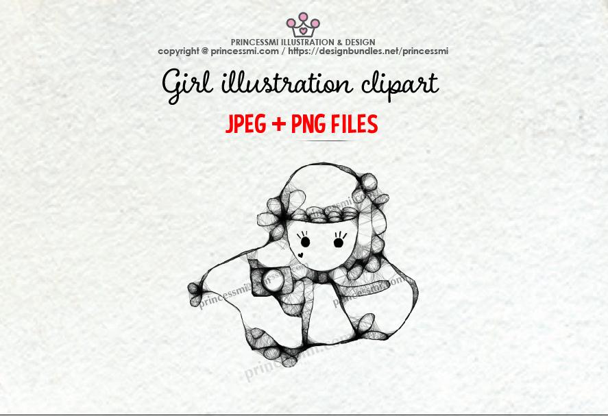 GIRL holding camera illustration clipart 3 example image 1
