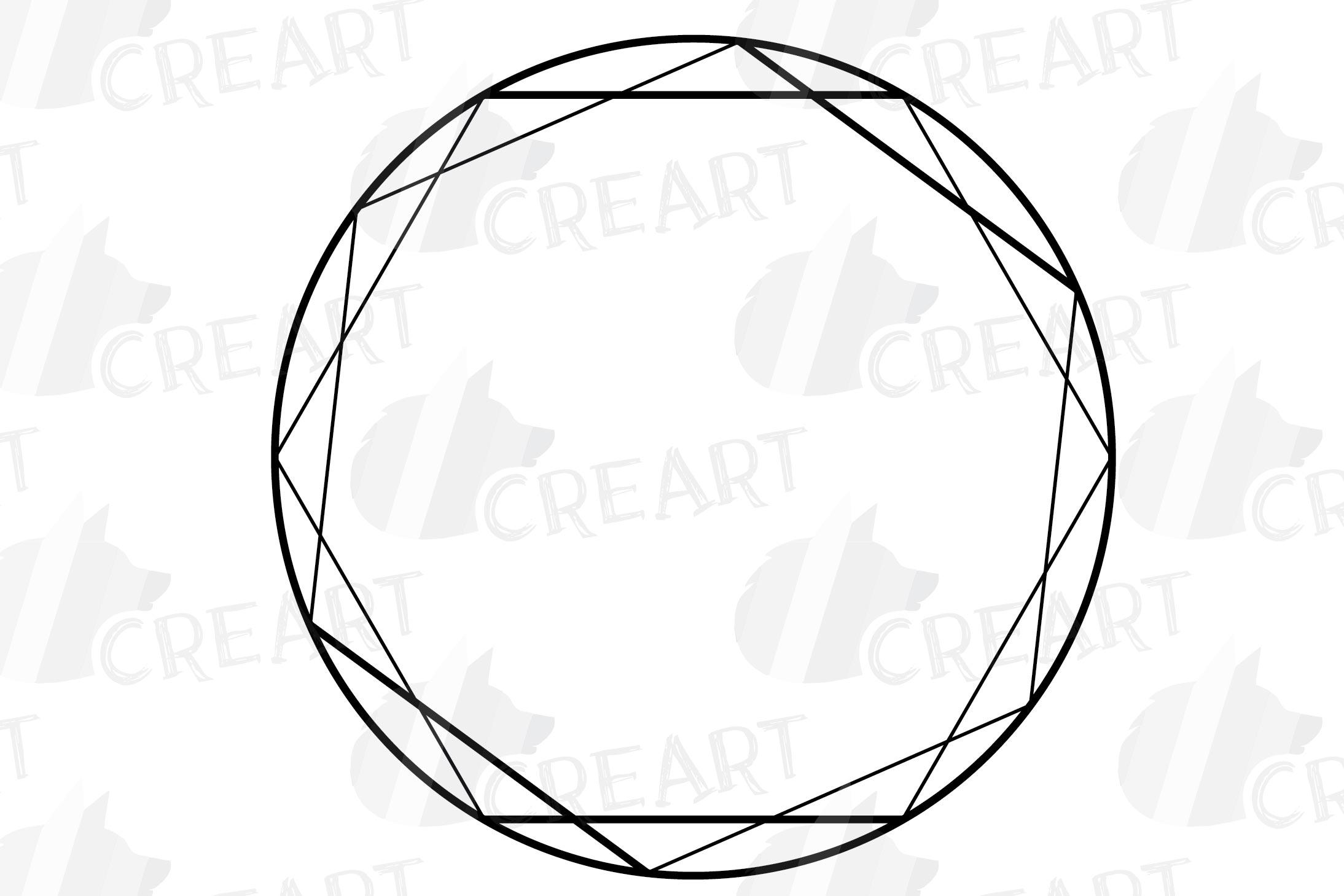 Geometric lineal black frames decor clip art. Wedding border example image 2