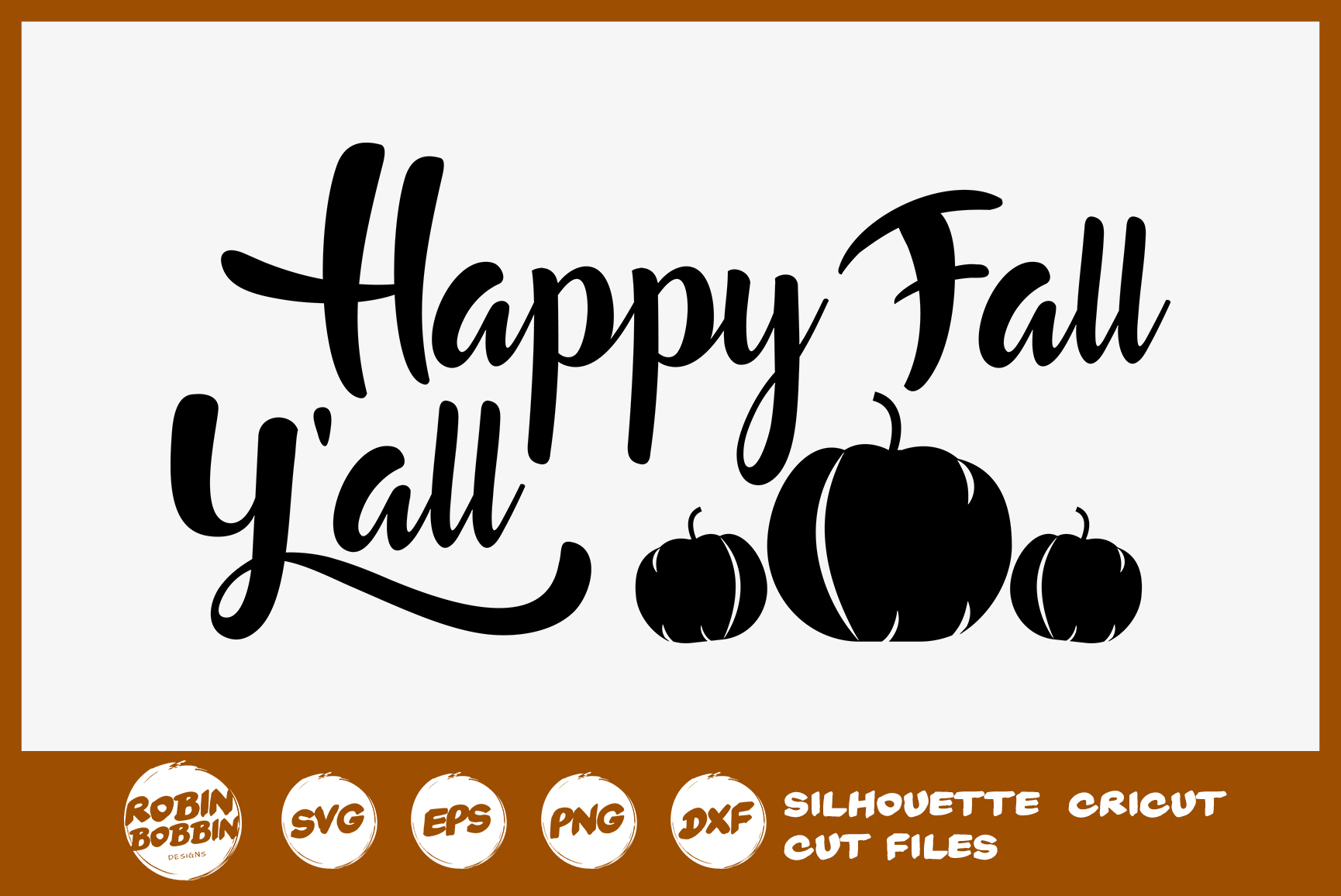 Happy Fall Y'all SVG - Fall Farmhouse Sign SVG example image 1