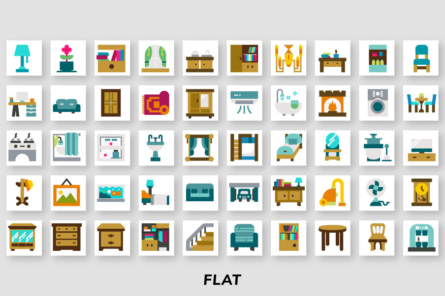 200 Home Interior Icon Pack example image 4