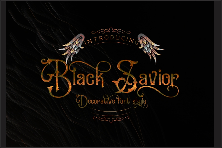 Black Savior - decorative calligraphy Display Font example image 10