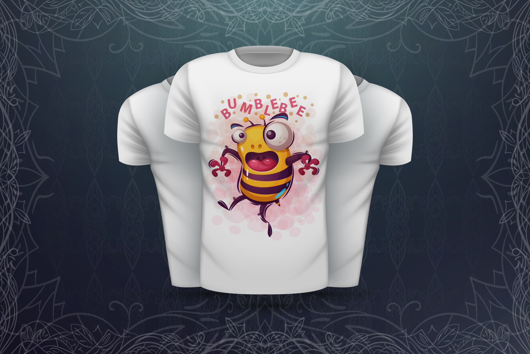 Set crazy bee and monsters example image 7