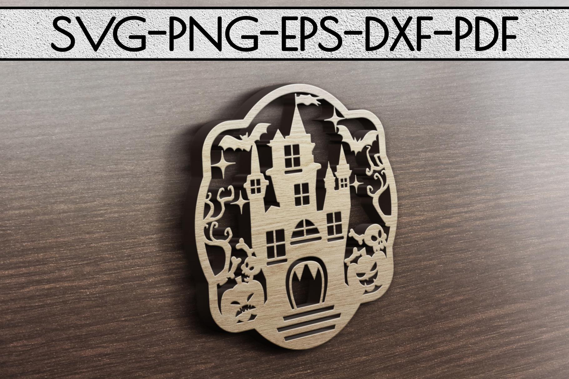 Happy Halloween Papercut Templates Bundle, Spooky, PDF, SVG example image 10